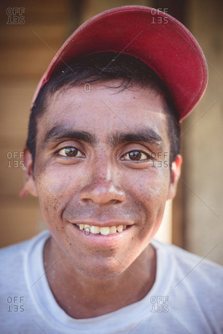 Guatemala - May 5, 2015: A portrait of a smiling man in Guatemala