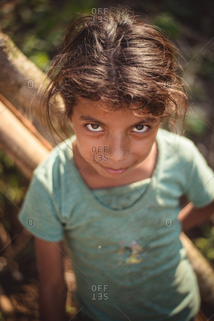 Guatemala - May 6, 2015: A young Guatemalan girl