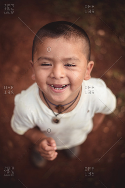 Guatemala - May 15, 2015: A young Guatemalan boy smiles