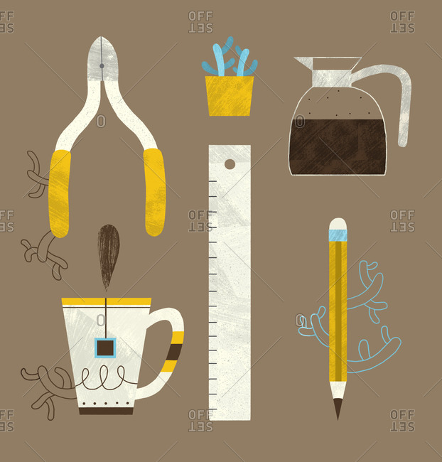 Tools and household objects