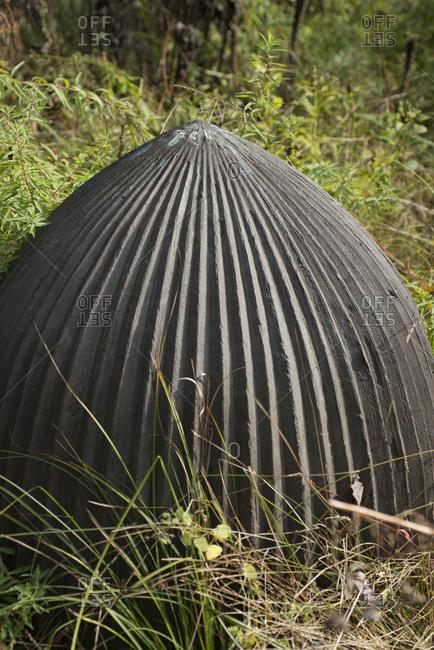 A sculptural dome in a garden