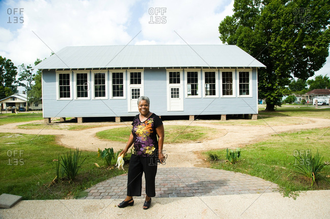 Donaldsonville, Louisiana - May 30, 2012: Kathe Hambrick-Jackson, founder and executive director, outside new project the River Road African American Museum