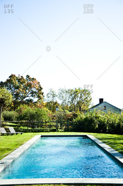 North Salem, New York - October 9, 2010: A pool on a Page Dickey's property