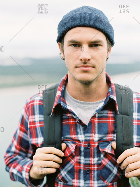 Portrait of young male hiker