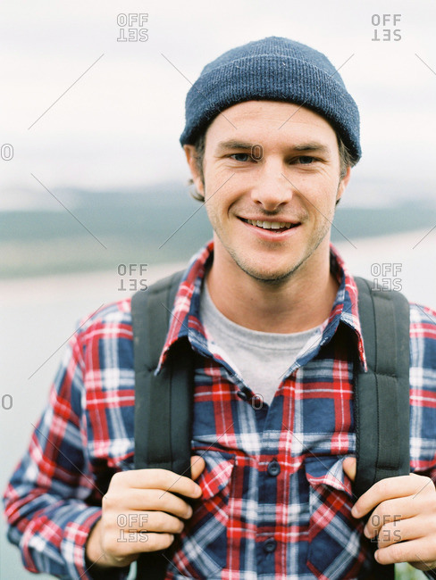 Portrait of smiling young male hiker
