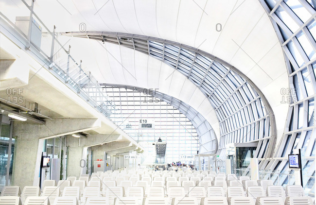 Abu Dhabi, UAE - November 10, 2008: Interior of airport in Abu Dhabi, UAE
