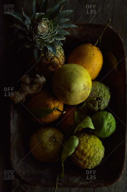 Still life of different fruit
