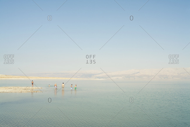 Bathers in the Dead Sea