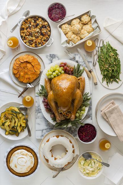 A bountiful Thanksgiving spread