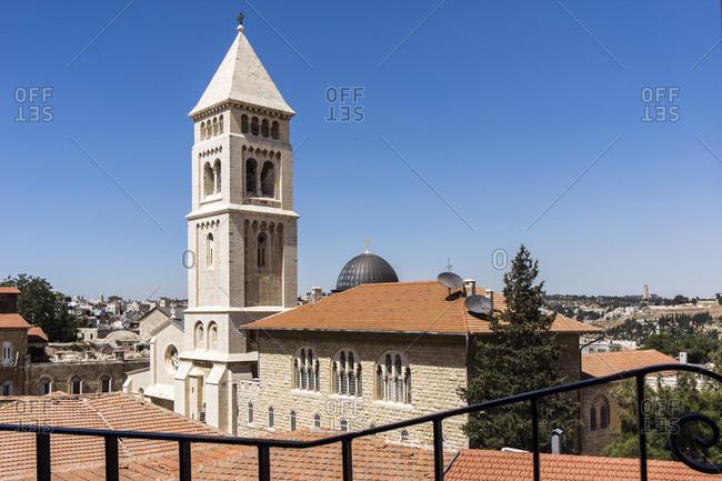 View to Cathedral of Christ the Savior, Christiane quarter, Jerusalem