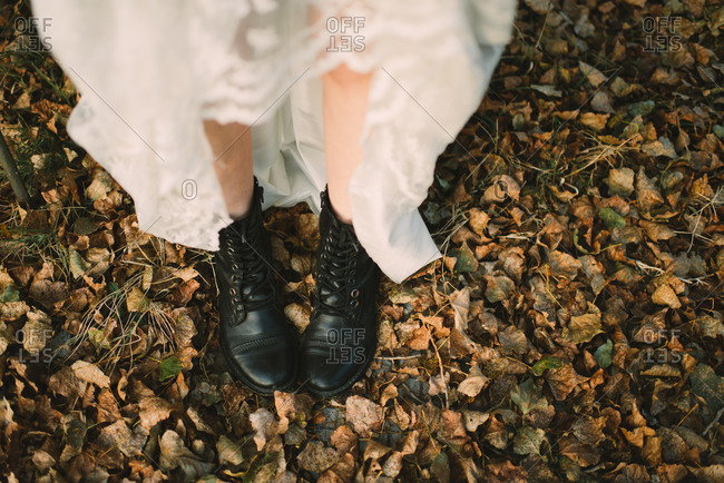A bride in combat boots