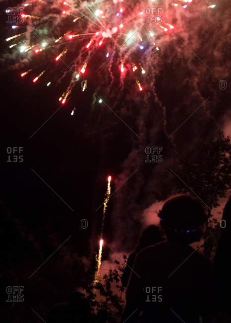 Fireworks at a Fourth of July celebration