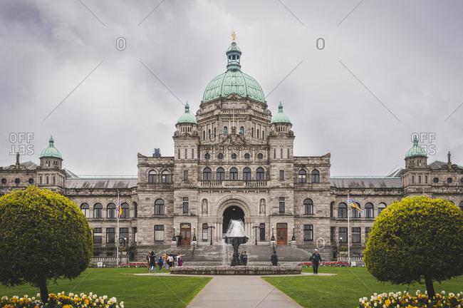 British Columbia, Canada - April 17, 2014: The British Columbia Parliament Building
