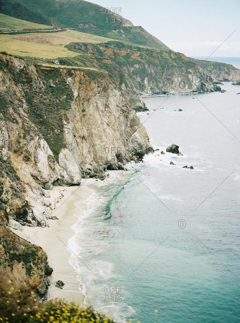 Cliffs on the Big Sur coastline