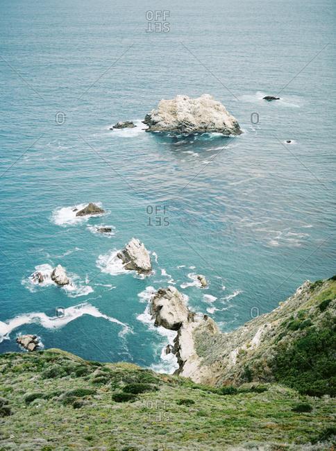 Rocks in the ocean at Big Sur