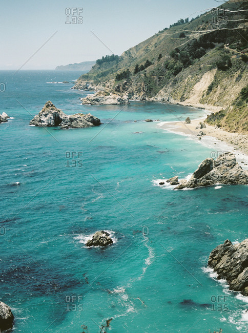 Blue water on the Big Sur coast