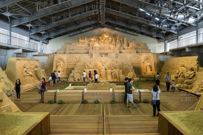 Totorri, Japan - June 7, 2014: Totorri sand museum in Japan