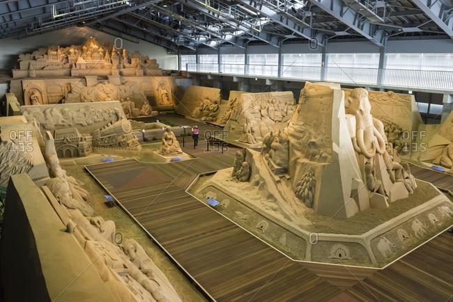 Totorri, Japan - June 7, 2014: Sand museum in Totorri, Japan