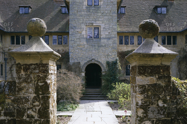 Entrance of a stone manor
