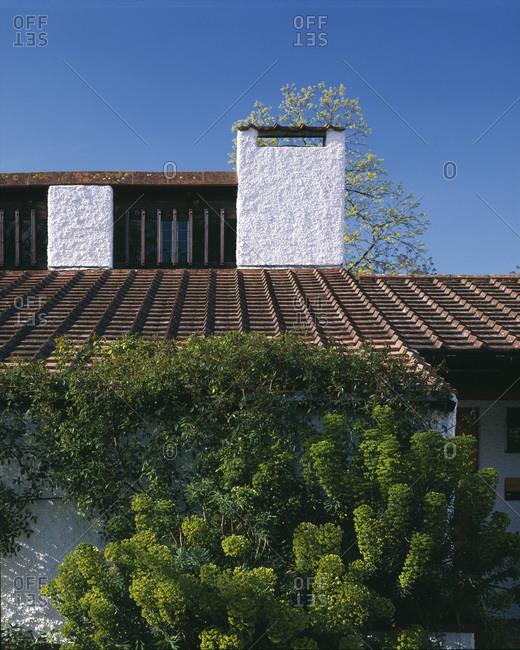 Chimney of a modern house