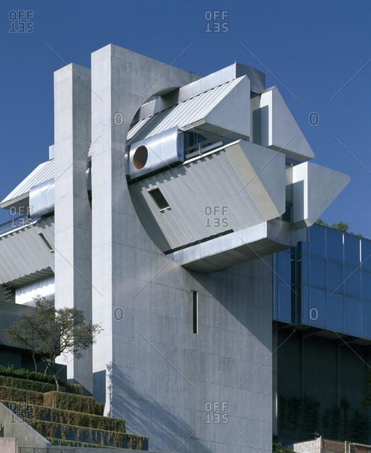 Mexico City, Mexico - November 26, 2008: Casa en el aire, designed by Agustin Hernandez