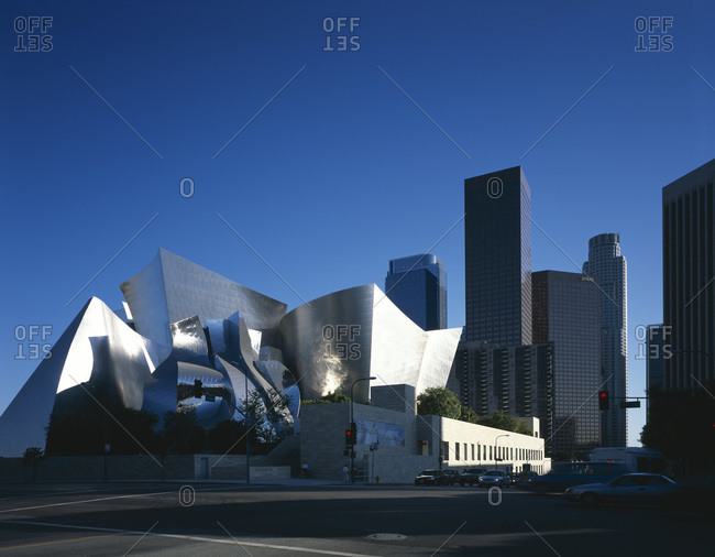 Los Angeles, California - November 17, 2008: Walt Disney Concert Hall, designed by Frank O Gehry and Associates