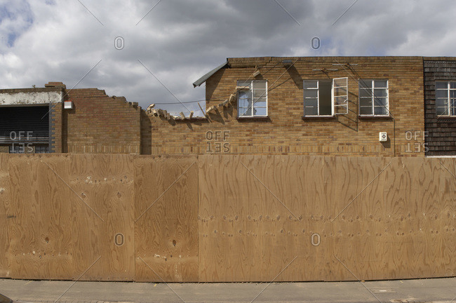 Demolition for regeneration building site in the United Kingdom