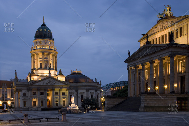 The German Cathedral and Concert Hall, Gendarmenmarkt, Berlin, Germany