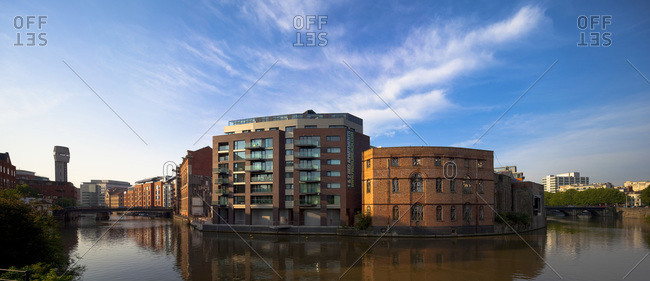 Bristol, United Kingdom - August 8, 2013: Finzels Reach, a mixed-use residential, commercial and public space building