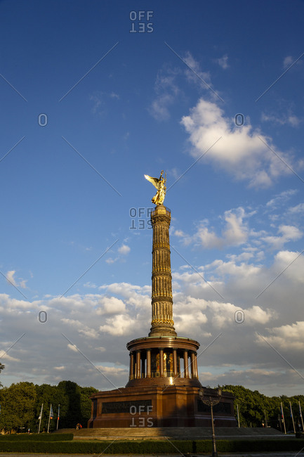 The Victory Tower built in the 19th century by Friedrich Drake, Grosse Stern square, Tiergarten, Berlin Germany