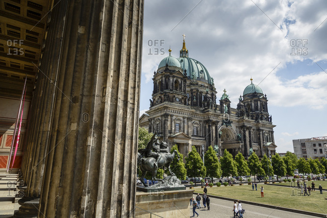 The park in front of the Berlin Cathedral, Mitte, Berlin, Germany