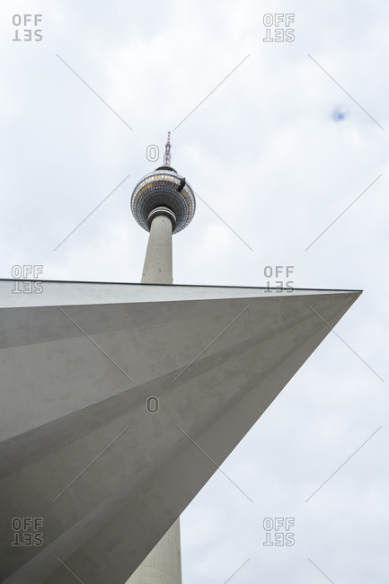 The Berlin TV tower in Alexanderplatz, Berlin, Germany
