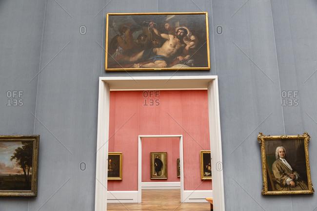 May 21, 2015: Galleries of portraiture at Gemaldegalerie art museum at the Kulturforum, Berlin, Germany