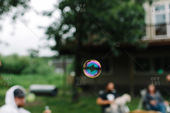 Bubble floating in mid-air