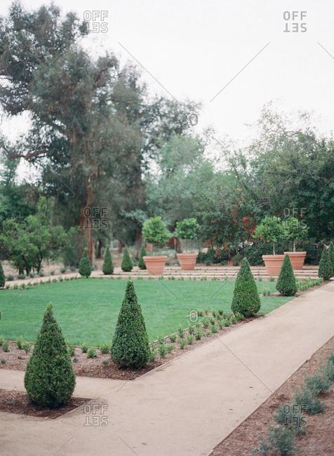 A landscaped formal garden