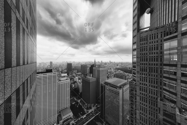 Tokyo skyline as seen from the Tokyo Metropolitan Government Building