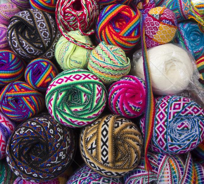 June 25, 2015: Colorful Peruvian wools