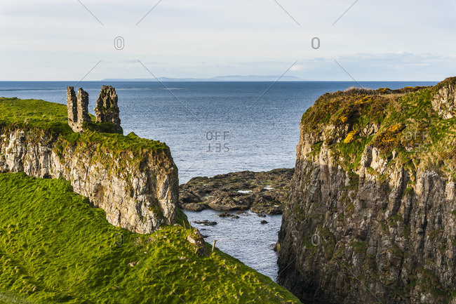 Dunseverick Castle, County Antrim, Ulster, Northern Ireland, United Kingdom, Europe