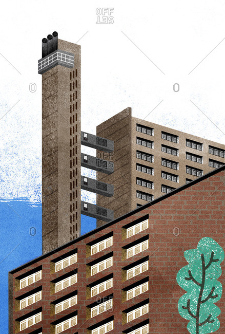Trellick Tower apartment building in London