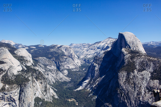 A view of Yosemite, California