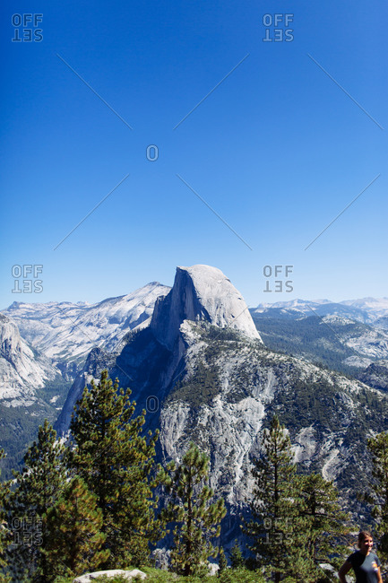 The half dome in Yosemite, California