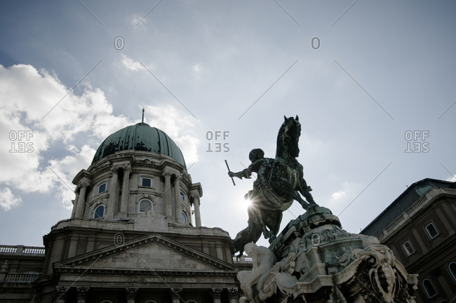 Statue of Eugene of Savoy in front of the Buda Castle in Budapest, Hungary