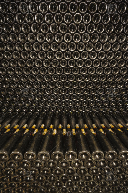 Interior of a wine cellar in Hungary