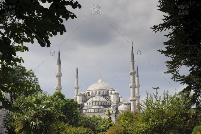 The Blue Mosque in the old part of Istanbul, Turkey.