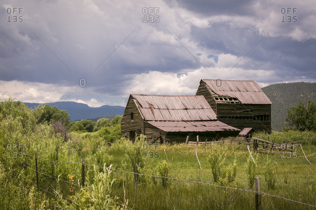 A dilapidated barn in Mora, New Mexico