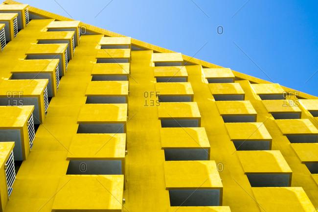 Balconies of a modern hotel