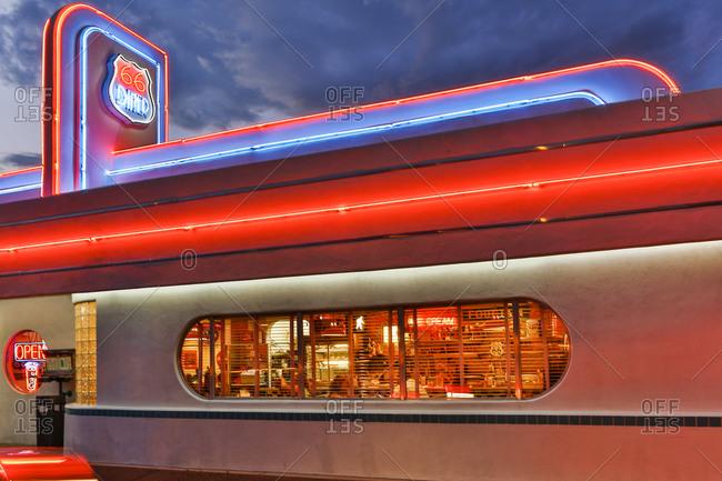 Albuquerque, New Mexico, USA - June 25, 2015: Exterior Route 66 Diner