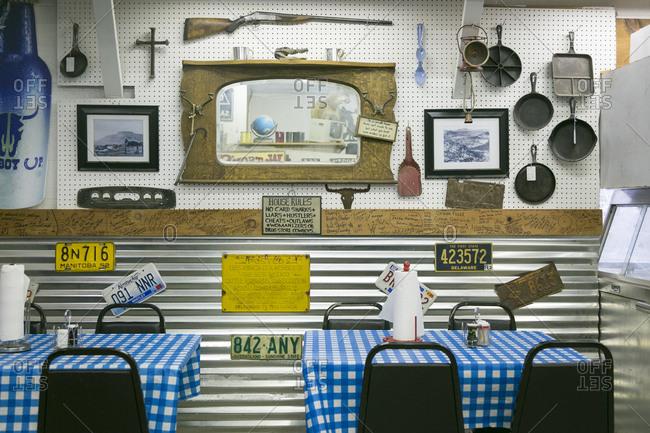 Albuquerque, New Mexico, USA - June 26, 2015: The interior of Watsons BBQ