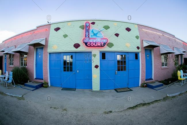Tucumcari, New Mexico, USA - June 26, 2015: Exterior of the Blue Swallow Motel