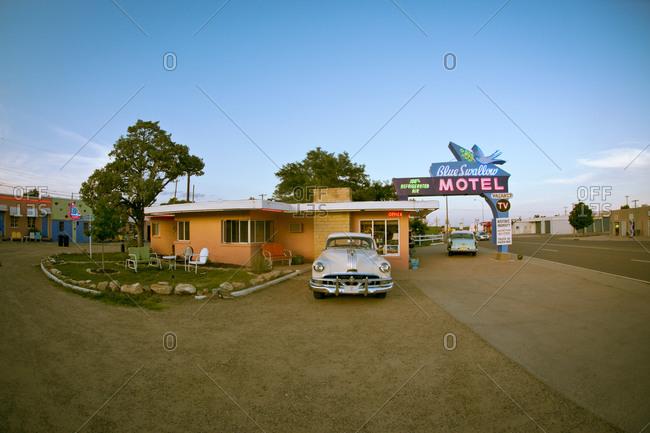 Tucumcari, New Mexico, USA - June 26, 2015: The Blue Swallow Motel
